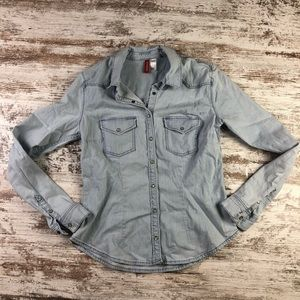 Divided H&M Chambray Button Up Top